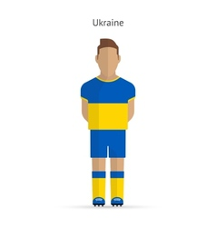 Ukraine football player soccer uniform vector