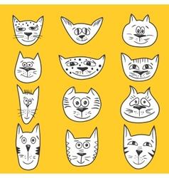 Cartoon cats set vector