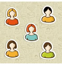Diversity user profile icon set vector