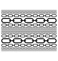 Chain link silhouettes vector