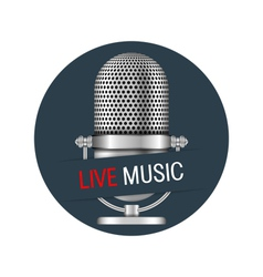 Live music banner vector