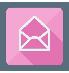 Mail icon open envelope flat design vector