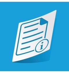 Information document sticker vector