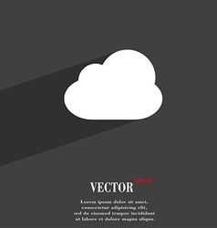 Cloud icon symbol flat modern web design with long vector