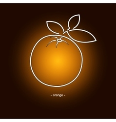 Image orange in the contours vector