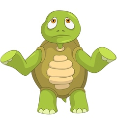 Sad turtle vector