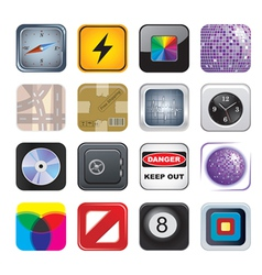 Apps icon set two vector