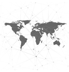 World map  for communication vector