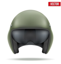 Military flight helicopter helmet vector
