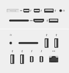 Computer connectors vector