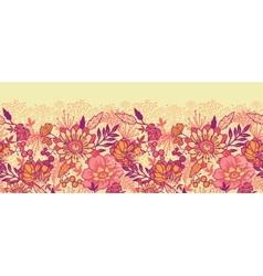 Fall flowers horizontal seamless pattern vector