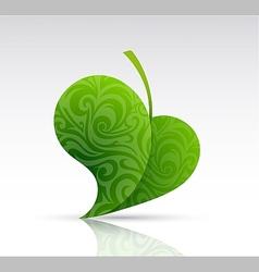 Leaf shape as design element vector