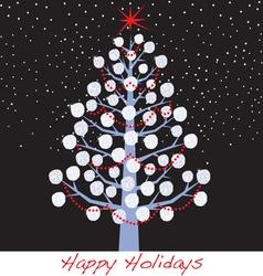 Snowball christmas holiday tree vector