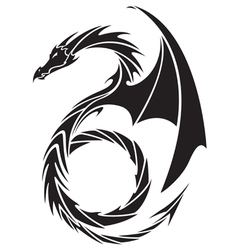Dragon tattoo design vector