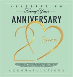 20 years anniversary background vector