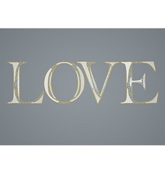 Greeting card with love vector