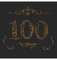 Anniversary 100th signs vector