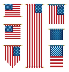 United states banners vector