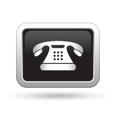 Telephone icon vector