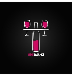Wine red and white balance concept design vector