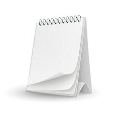 Calendar template with blank vector