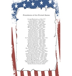 Presidents of the united states vector