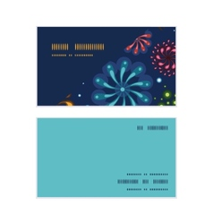 Holiday fireworks horizontal corner frame pattern vector