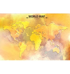 World map - watercolor art vector