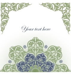 Frame with baroque ornaments vector