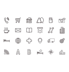Set of icons for the card vector