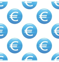 Euro sign pattern vector