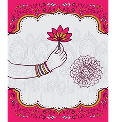 India lotus flower background vector