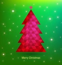 Holidays christmas tree vector