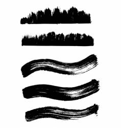 Collection of wave ink elements vector