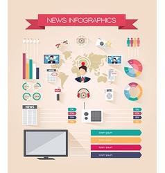 Infographics live news vector