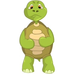 Angry turtle vector