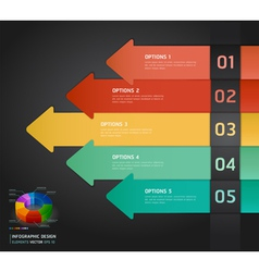 Colorful arrow number options banner template vector