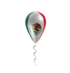 Flag of mexico on balloon vector