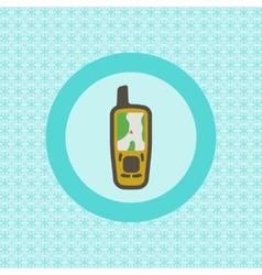 Mobile gps receiver flat icon vector