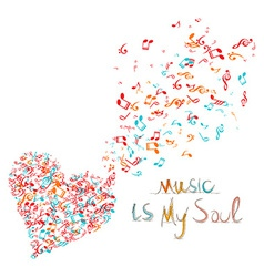 Music is my soul background vector