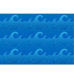 Seamless ocean waves pattern vector