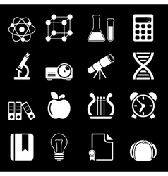 White education icons vol 2 vector