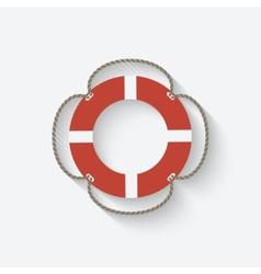 Lifebuoy symbol vector
