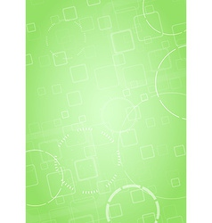 Abstract hi-tech green background vector