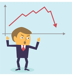 Businessman in panic vector