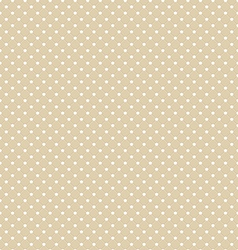 Brown polka dot seamless pattern background vector