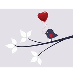Valentine bird vector