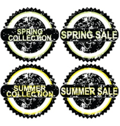 Spring rubber stamps vector