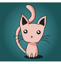 Adorable kitten vector