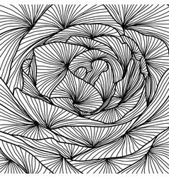 Decorative rose close up vector